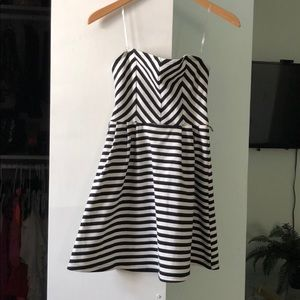 NWOT striped strapless Charlotte Russe dress